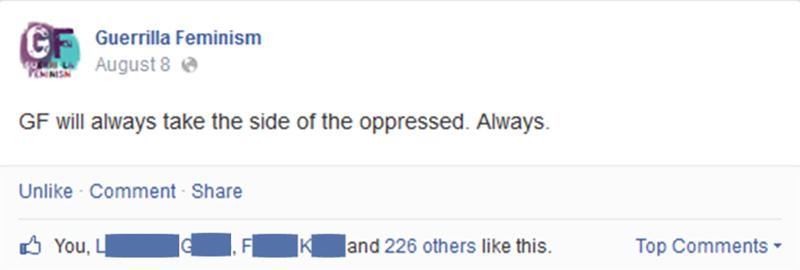 Crafty Crookshanks Guerrilla Feminism Always Side With The Oppressed