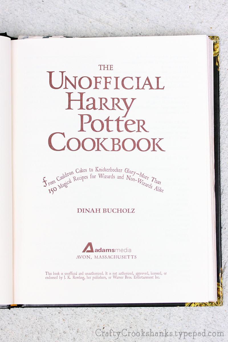 Crafty Crookshanks Unofficial Harry Potter Cookbook Welcome