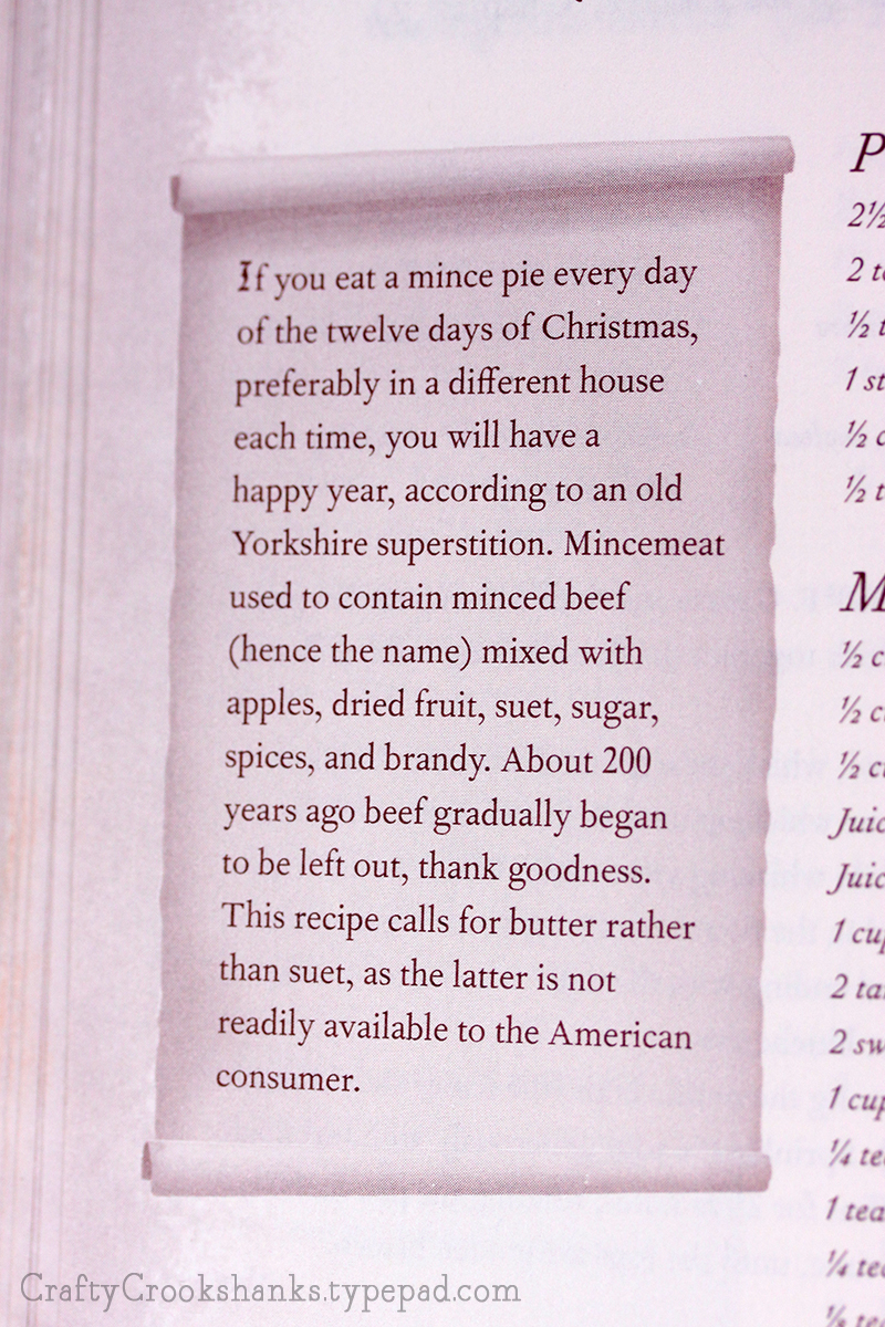 Crafty Crookshanks Unofficial Harry Potter Cookbook Mince Pie Fact