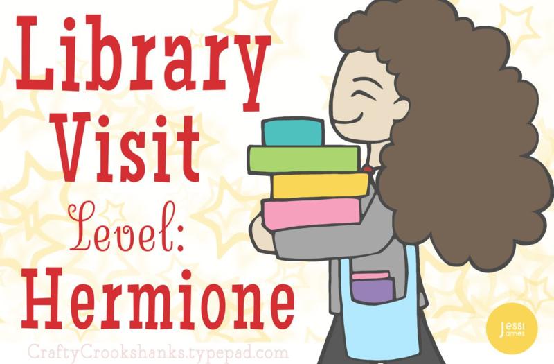 Crafty Crookshanks Hermione Library Level