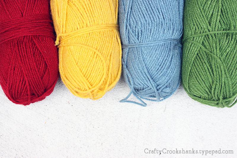 Crafty Crookshanks Hogwarts House Colors Yarn