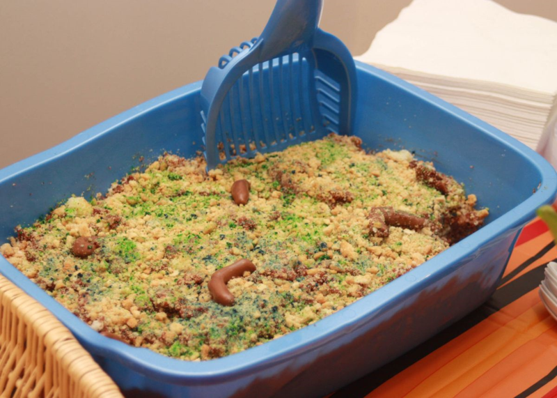 Cooking Bride: Kitty Litter Cake