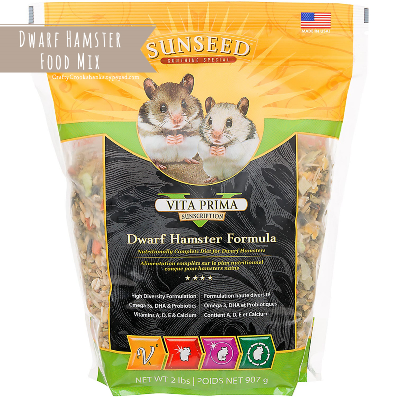 Crafty Crookshanks: Dwarf Hamster Food Mix: Vitakraft Vita Prima Sunscription Dwarf Hamster Formula