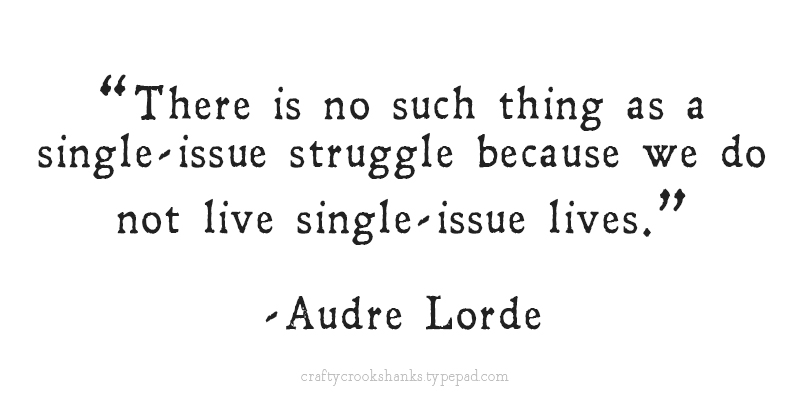 Crafty Crookshanks: Audre Lorde Single Issue Quote