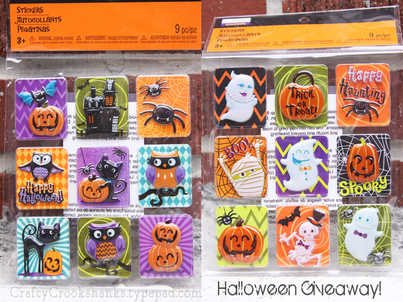 Crafty Crookshanks: Halloween Stickers Giveaway