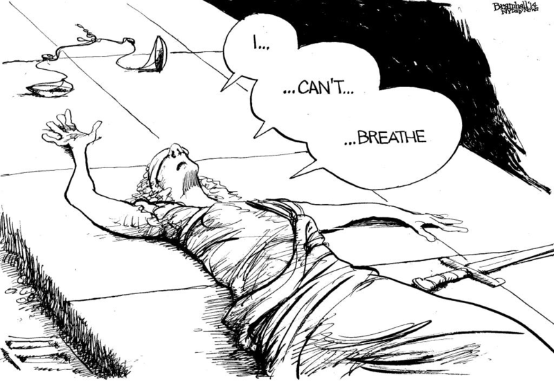 Bill Bramhall: Lady Justice: I Can't Breathe